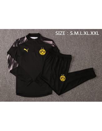 2020-2021 Borussia Dortmund Tracksuits Black