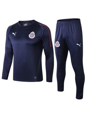 Chivas Guadalajara CD Survêtements 2018- 2019 Bleu