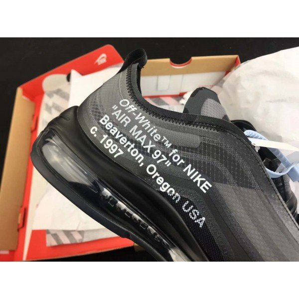 off white Air Max 97 Negro