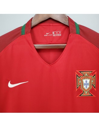 Portugal Home Jerseys 2016 Retro