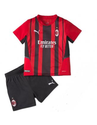 2021-2022 AC Milan Home Football Shirt For Kids