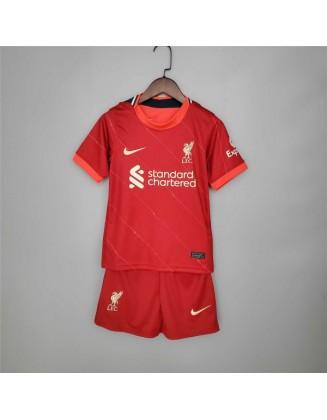 2021-2022 Liverpool Home Football Shirt For Kids