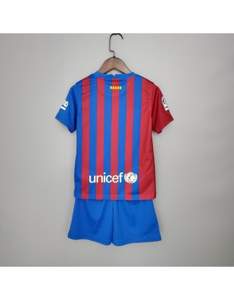 2021-2022 Barcelone Home Football Jersey For Kids