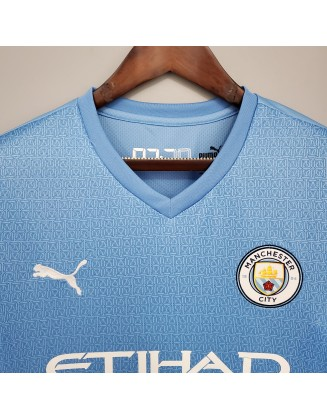 Manchester City Home Jersey 2021/2022 Long sleeve