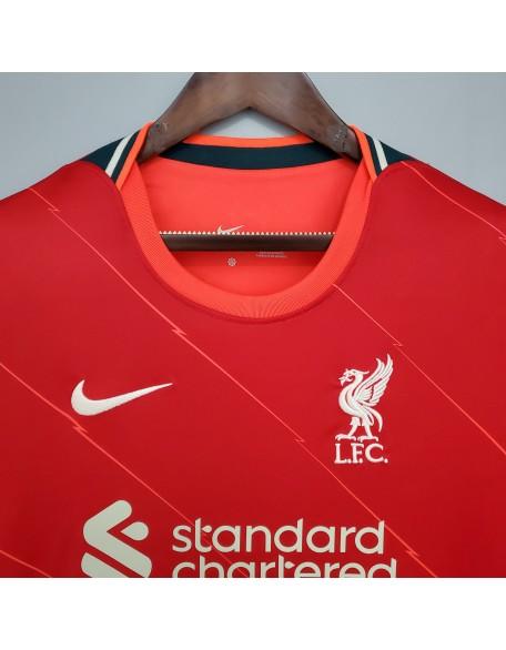 2020-2021 Liverpool Home Football Jersey Long Sleeve
