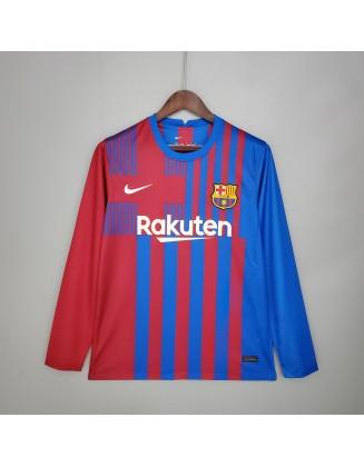 Barcelona Home Jersey 2021/2022 Long sleeve