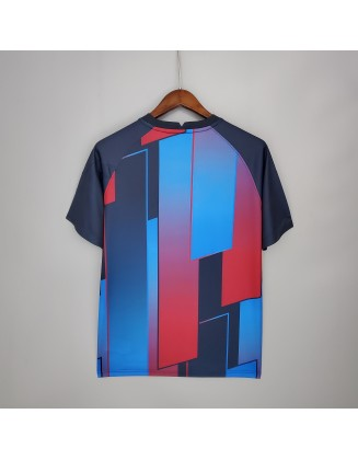 21/22 Barcelona Training Suit Blue Red