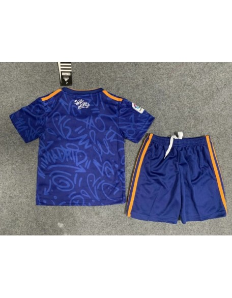 2021/2022 Real Madrid Away Football Jersey For Kids