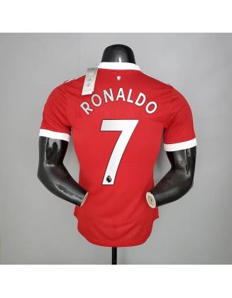Manchester United Home 21/22 Player Version Ronaldo 7