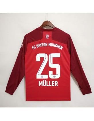 Bayern Munich Home Jersey 2021/2022 Long sleeve
