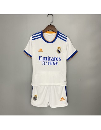 2021/2022 Real Madrid Home Jersey For Kids