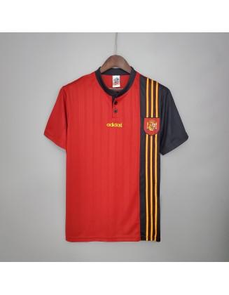 Spain Home Jerseys 1996 Retro