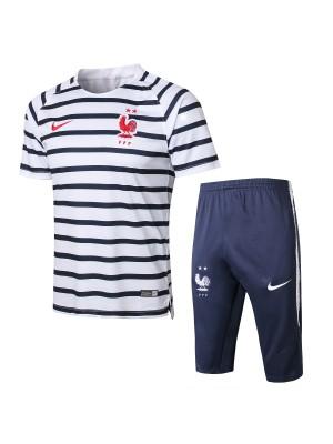 Camiseta Del Francia 2018 Rayas Blanco Conjunto