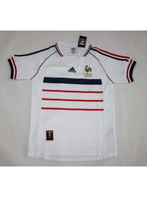 Camiseta De Francia 2a Equipacion 1998